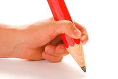 Pencil. Signing that all important contract with big pencil royalty free stock photography