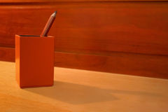 Pencil. Two pencils placed in a stationery box Stock Photo