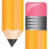 Pencil. Tip and eraser of a pencil illustration, vector design Royalty Free Stock Photos