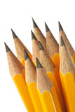 Pencil. Yellow pencil in white background Royalty Free Stock Photography