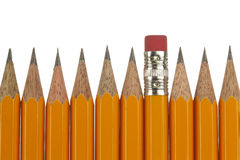 Pencil. Yellow pencil in white background Royalty Free Stock Photo