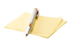 Pencil. With sheet of paper on white background royalty free stock images