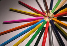 Pencil. S in a circle Royalty Free Stock Photo