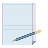 Pencil. Sheet of paper with a pencil Stock Photography