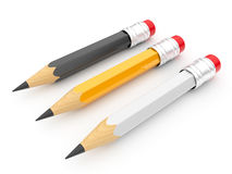 Pencil 3d. Isolated. Set Stock Images
