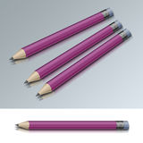 Pencil. Icon on white and gray background Stock Photo