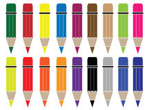 Pencil. An illustrated pencil clipart on plain white background. Eps8, vector, easy resizing or change colors stock illustration