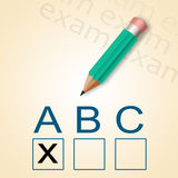 Pencil and ABC test Stock Photography