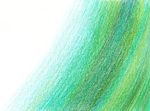 Pencil abstract background Sea wave Royalty Free Stock Photo