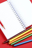 Pencil and agenda Royalty Free Stock Photography