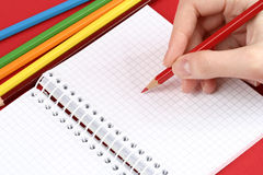 Pencil and agenda Royalty Free Stock Photos