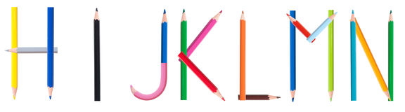 Pencil alphabet 2/4 Royalty Free Stock Images