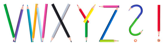 Pencil alphabet 4/4 Royalty Free Stock Images