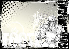 Pencil american football grunge background 2 Stock Images