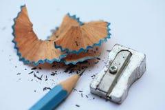 Pencil And Sharpener Stock Photo