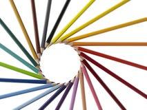 Pencil arrangement Stock Images