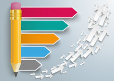 Pencil Arrows Growth Infographic Royalty Free Stock Image