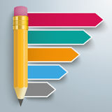 Pencil Arrows Infographic Stock Photo