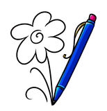 Pencil Art Flower Royalty Free Stock Photo