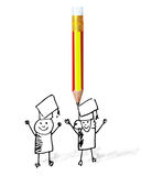Pencil with back to school concept Royalty Free Stock Photography