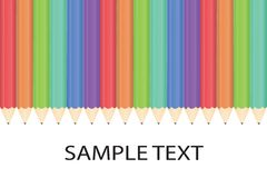 Pencil background. Art background isolated colored pattern  illustration Stock Photos