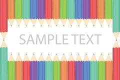 Pencil background. Art background isolated colored pattern  illustration Stock Image
