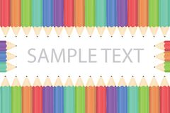 Pencil background. Art background isolated colored pattern  illustration Stock Photo