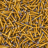 Pencil background. 3D render of hundreds of yellow pencils Stock Images