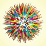 Pencil ball Royalty Free Stock Photo