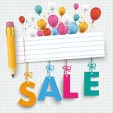 Pencil Banner Balloon Sale Stock Image