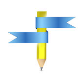 Pencil and banners. illustration design Royalty Free Stock Image