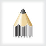 Pencil bar code Royalty Free Stock Photos