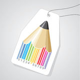 Pencil bar code with tag Royalty Free Stock Photo