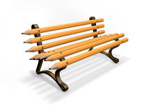 Pencil bench isolated on white Royalty Free Stock Photos