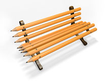 Pencil bench isolated on white Royalty Free Stock Images
