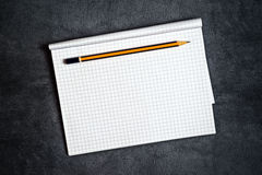 Pencil And Blank Notepad Page Stock Photos