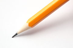 Pencil on Blank Paper Royalty Free Stock Photo