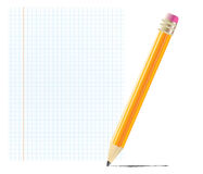 Pencil with blank paper. Object Royalty Free Stock Photography
