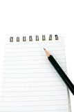 Pencil blocknote Stock Photos