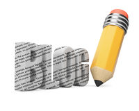 Pencil and blog word.  Blogging concept Stock Image