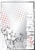 Pencil bodybuilding grunge background Royalty Free Stock Photo