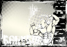 Pencil bodybuilding grunge background 2 Stock Image