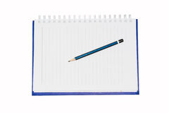 Pencil on book Royalty Free Stock Images