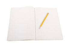 Pencil and book. Royalty Free Stock Images
