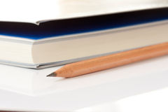Pencil and book Royalty Free Stock Photo
