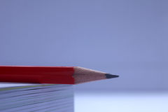 Pencil on the book Stock Photography