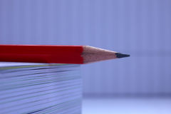 Pencil on the book Royalty Free Stock Photos