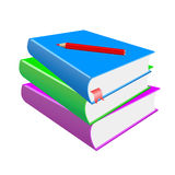 Pencil and books Royalty Free Stock Images
