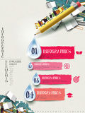 Pencil and books infographic elements design Stock Photography