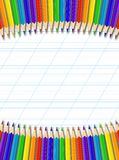 Pencil border Stock Images